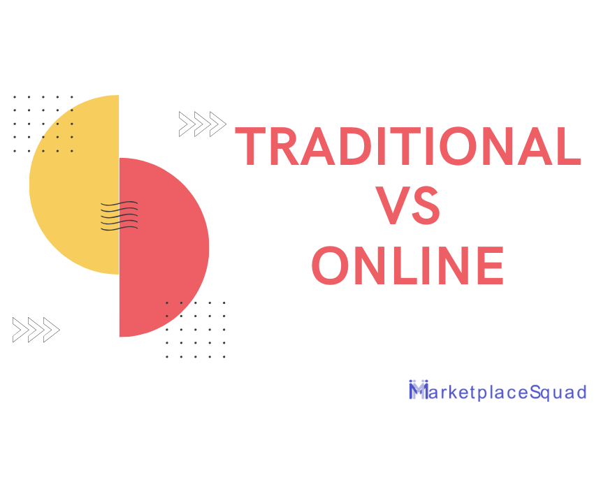 Traditional market changed to an online marketplace